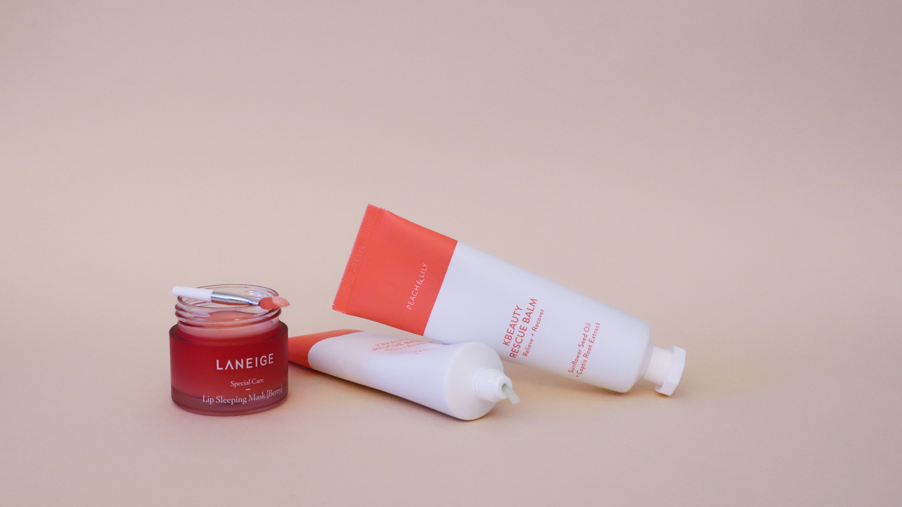 lipcare peach and lily laneige